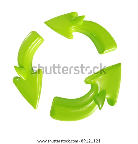 Recycle sign isolated on white