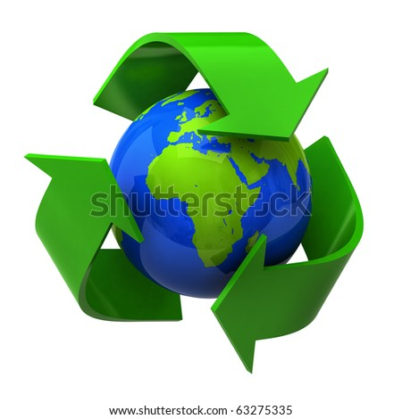 Recycle Symbol - stock photo