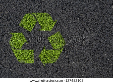 Recycle symbol background - stock photo