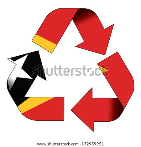 Recycle Symbol Flag East Timor Stock Illustration 132959951