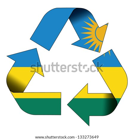 Recycle symbol flag of Rwanda