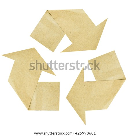 Recycle symbol or sign of conservation - stock photo