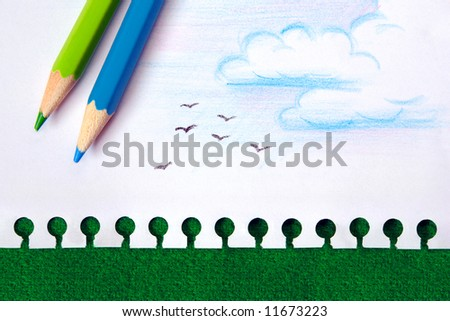 Recycle the paper, save the trees concept - stock photo
