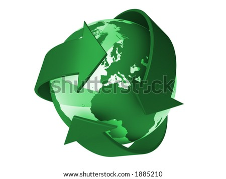 Recycle the world - stock photo
