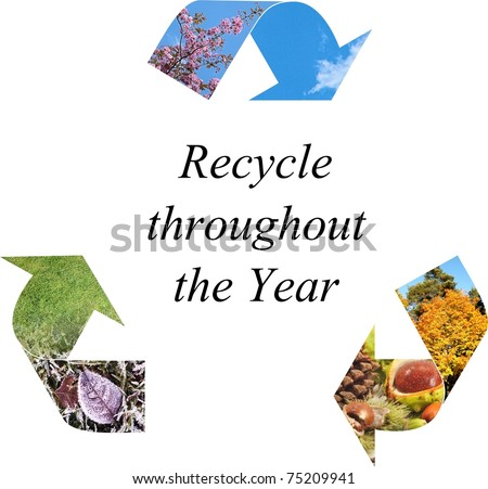 Recycle throughout the year - stock photo