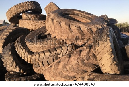 Recycle tire pile