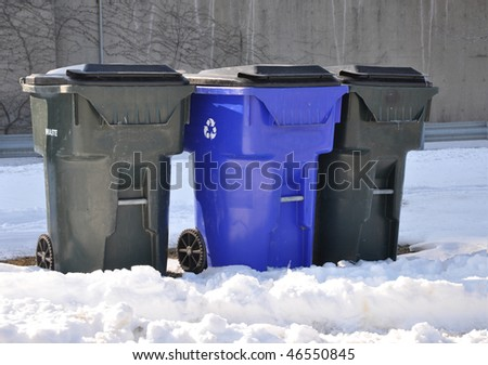 Recycle Trash Cans - stock photo