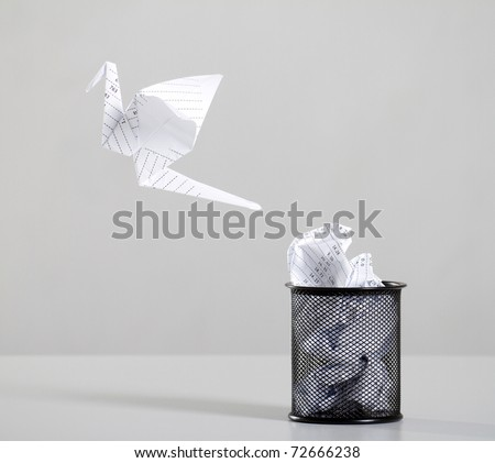 recycle waste paper - stock photo