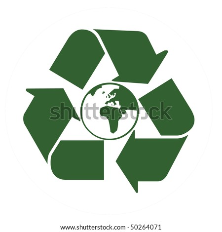 Recycle world - stock photo