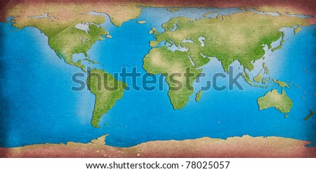 recycle world map for your background - stock photo