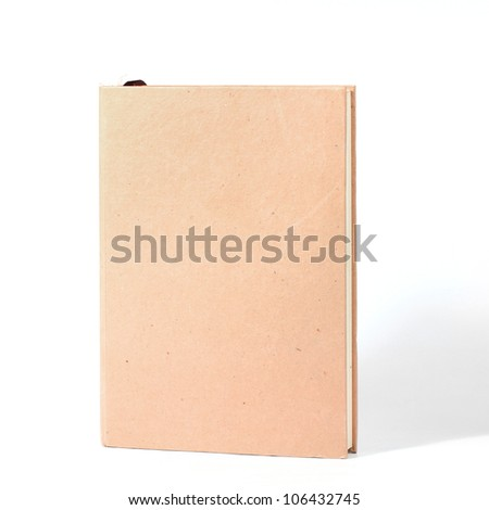 recycled book isolated. - stock photo