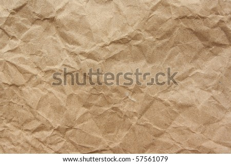 Recycled brown paper background in close up - stock photo