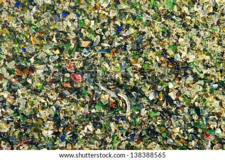 recycled glass - stock photo