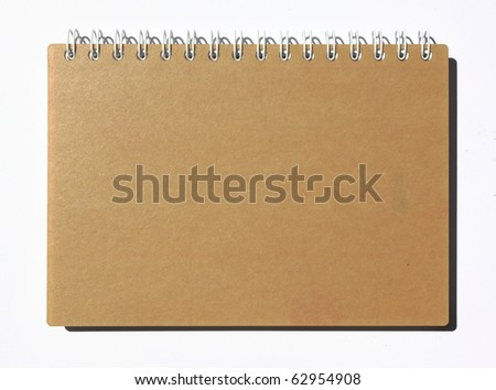 recycled notebook on white background - stock photo