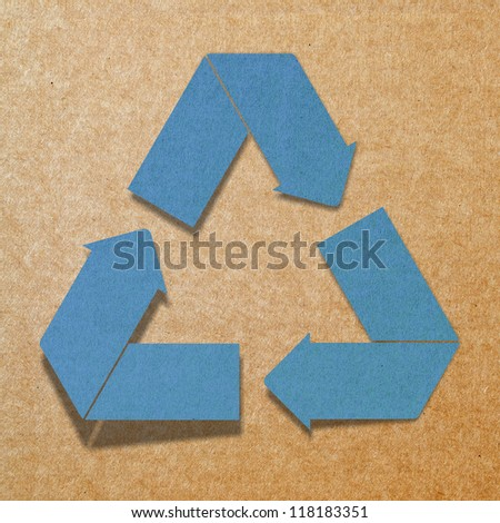 recycled paper craft stick on background
