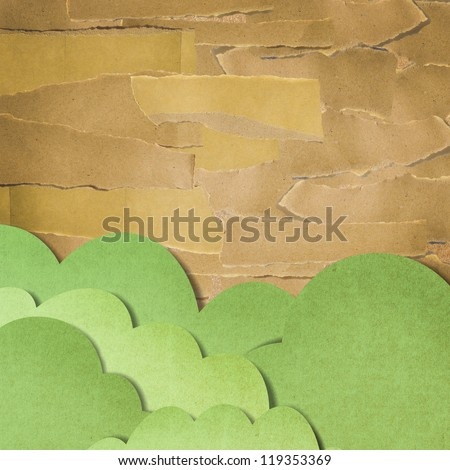 recycled paper craft stick on background - stock photo