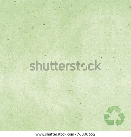 recycled paper craft stick on white background