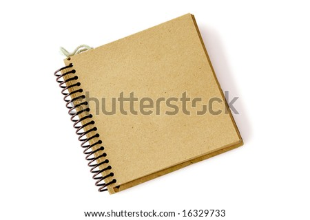 recycled paper note pad over a white background - stock photo