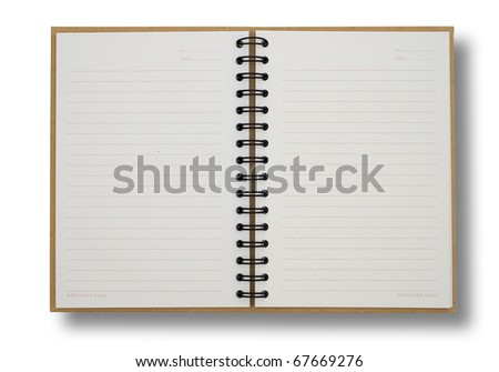 recycled paper notebook opened