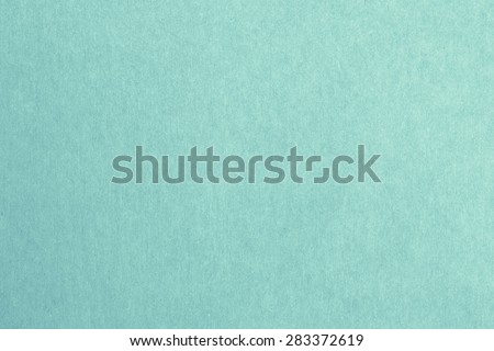 Recycled paper texture background in cyan turquoise teal aqua green blue mint vintage retro color tone: Eco friendly organic natural material surface arts craft design decoration backdrop          - stock photo