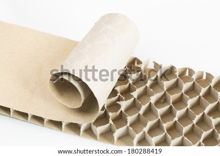 recycled paperboard honeycomb bee - stock photo