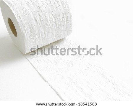 Recycled soft white Bathroom Paper