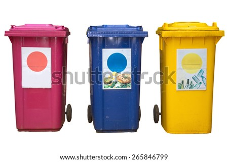 recycling bin  isolated on white background  - stock photo