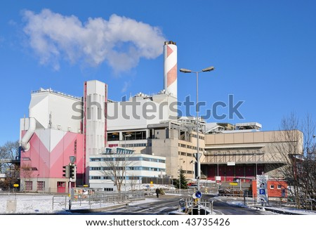 Recycling factory - stock photo