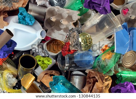 Recycled materials stock images royalty free images for Waste material in home