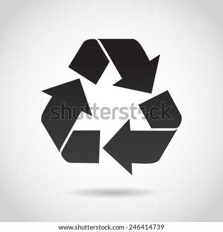Recycling icon isolated on white background.