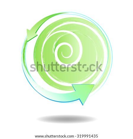 Recycling illustration - stock photo