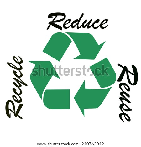 Recycling logo symbol - stock photo