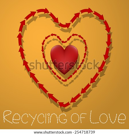 Recycling of Love - stock photo