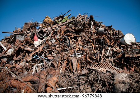 Recycling of metals - stock photo