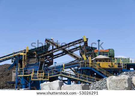 Recycling plant machinery