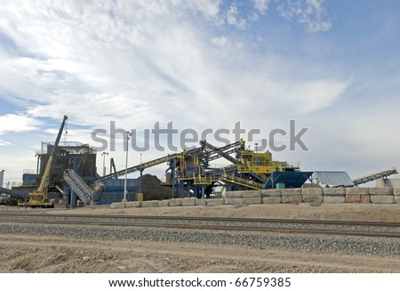 Recycling plant machinery - stock photo