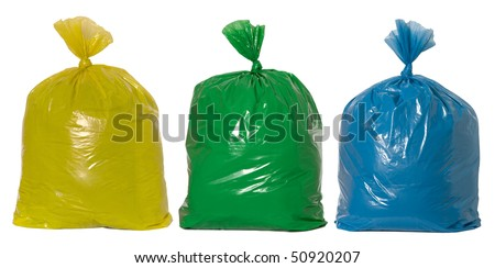 Recycling rubbish - stock photo
