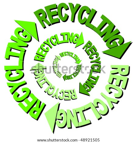 Recycling text curved arrows illustration JPEG