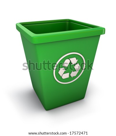 Recycling trash can - stock photo