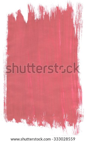 Red abstract background texture with paint brush strokes - stock photo