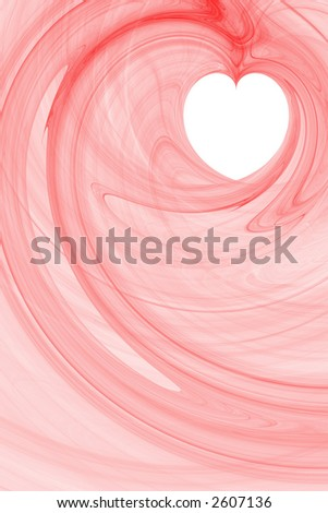 Red abstract background with white copyspace in a shape of a heart vertical layout large - stock photo