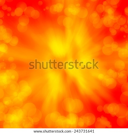 red abstract background yellow bokeh lights texture, may use as valentines day background or christmas background