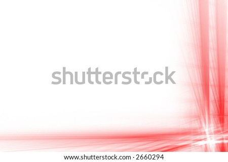 Red abstract big flash frame over white with copyspace - stock photo