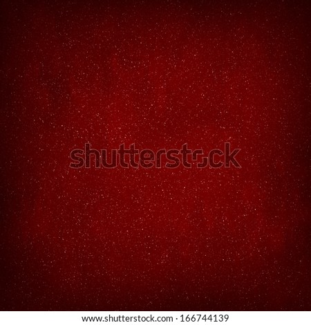 Red Abstract Christmas Winter Background with Falling Snow - stock photo