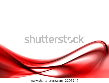 red abstract composition - stock photo