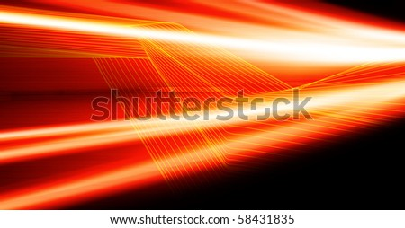 red abstract digital background - stock photo