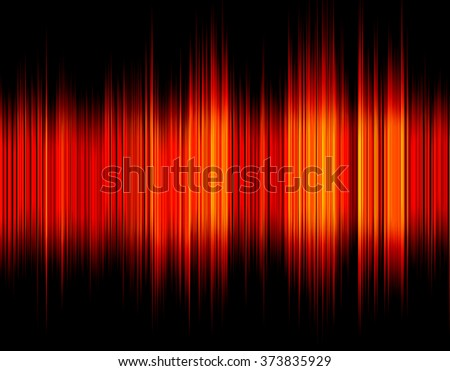 Red abstract digital sound wave on a black background. - stock photo