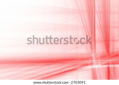 Red abstract flash background over white with copyspace - stock photo