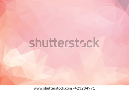 red abstract geometric rumpled triangular low poly style vector illustration graphic background, pink sky for sun rise sun set abstract design of sky, evening  morning pink sky with abstract cloud sky - stock photo