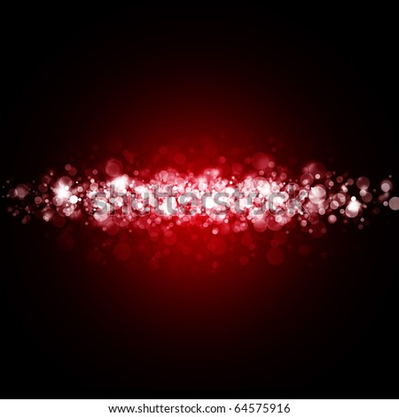 red abstract light background - stock photo